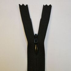 Black Invisible Concealed Zips